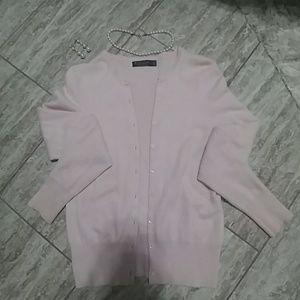 Cashmere Brooks Brothers Light Pink Cardigan